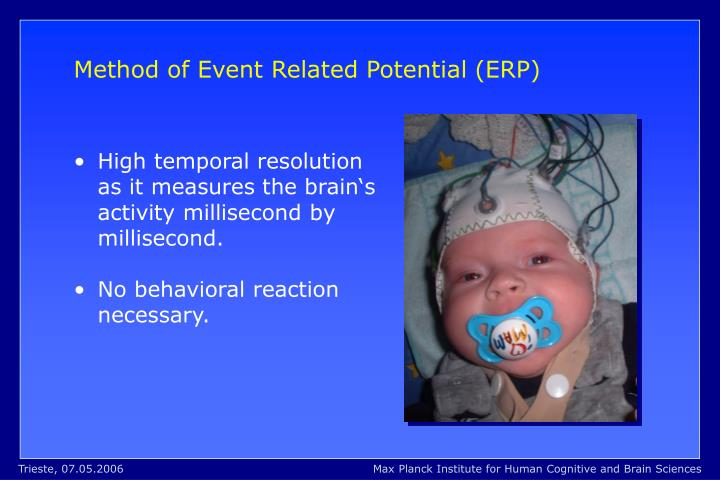 Method of Event Related Potential (ERP)