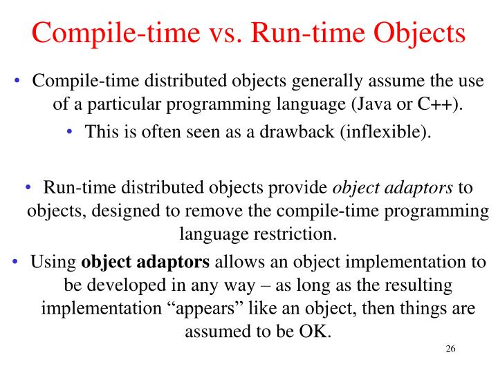 Compile-time vs. Run-time Objects