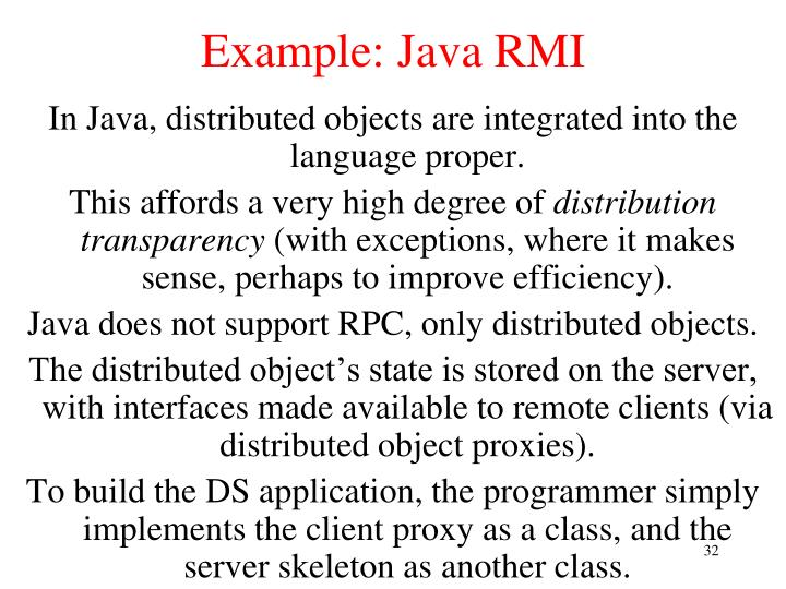 Example: Java RMI