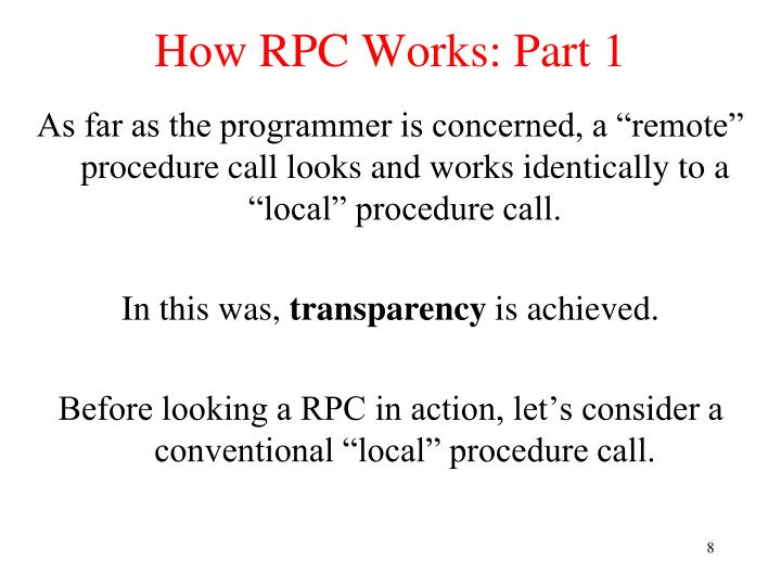 How RPC Works: Part 1