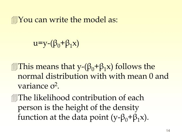 You can write the model as: