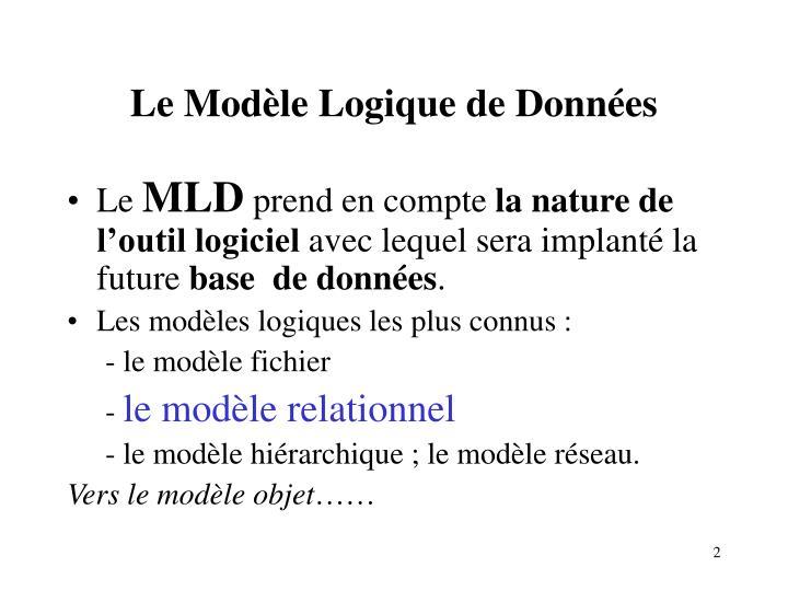 Le Modèle Logique de Données