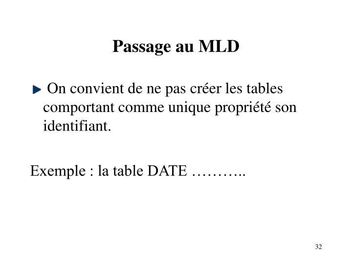 Passage au MLD