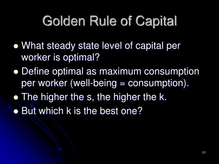 Golden Rule of Capital