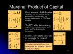 marginal product of capital