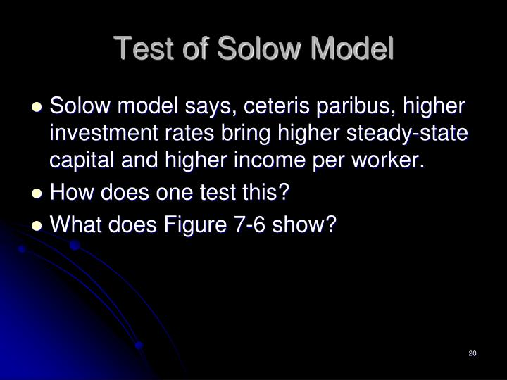 Test of Solow Model
