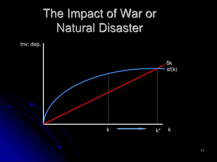 The Impact of War or Natural Disaster