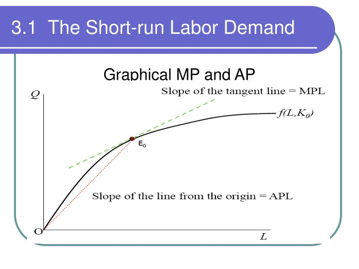 3.1  The Short-run Labor Demand