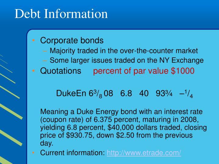Debt Information