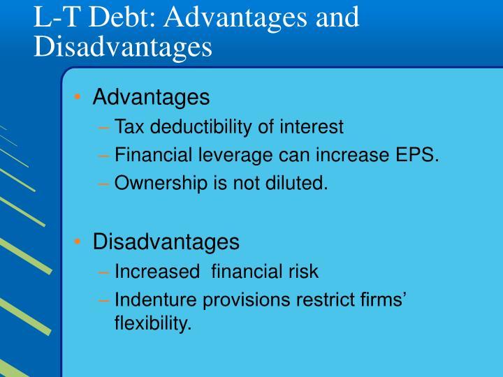 L-T Debt: Advantages and Disadvantages