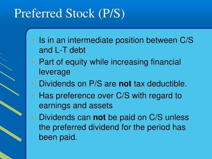 Preferred Stock (P/S)