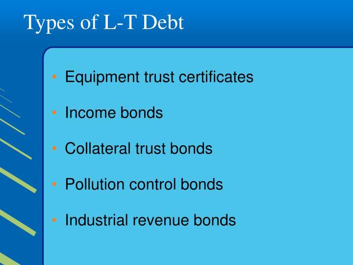 Types of L-T Debt