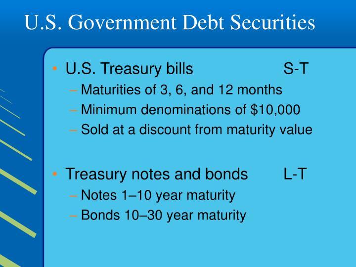 U.S. Government Debt Securities