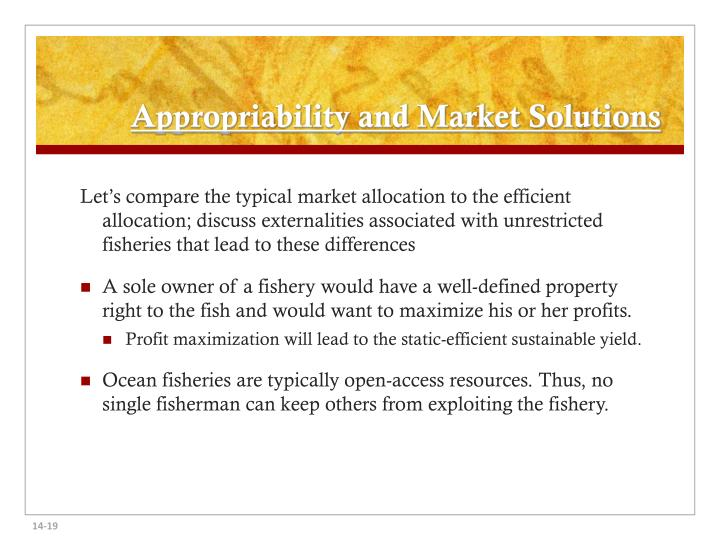 Appropriability and Market Solutions