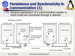 persistence and synchronicity in communication 1