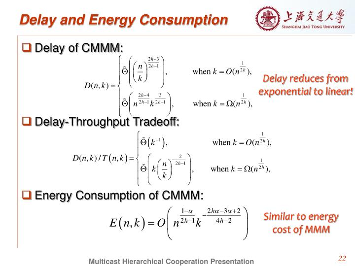 Delay and Energy Consumption