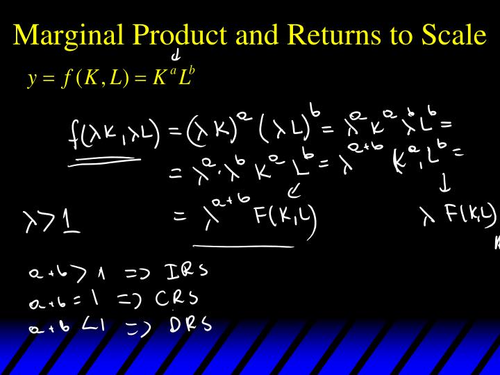 Marginal Product and Returns to Scale