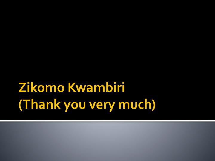 Zikomo Kwambiri