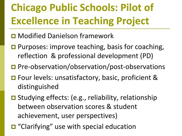 Chicago Public Schools: Pilot of