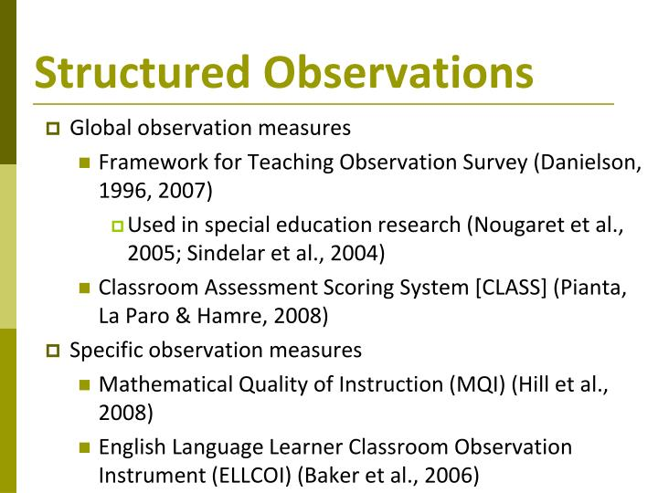 Structured Observations
