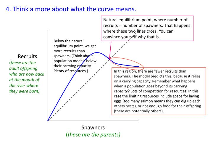4. Think a more about what the curve means.
