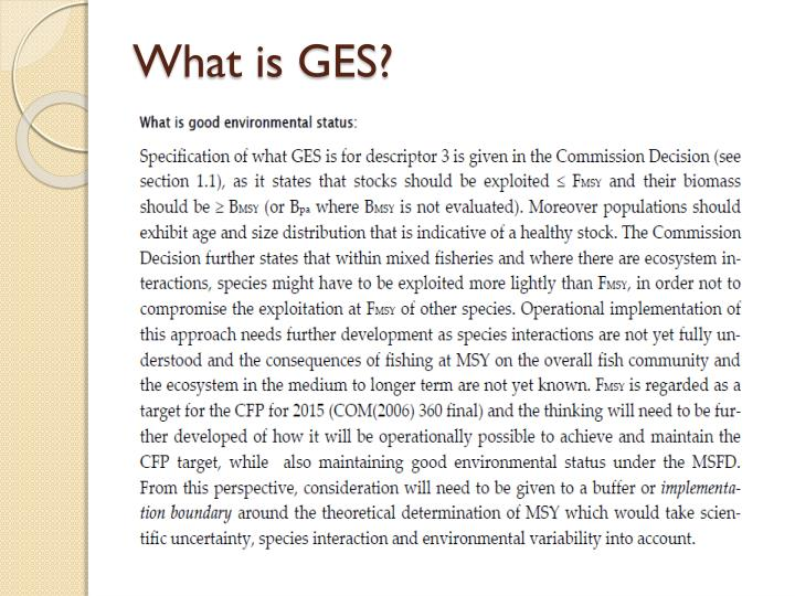 What is GES?