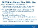 eucon attributes pla pma dla
