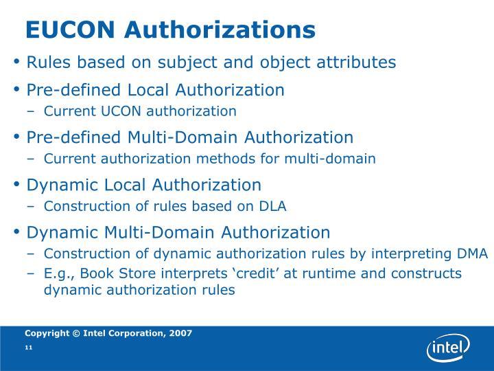 EUCON Authorizations