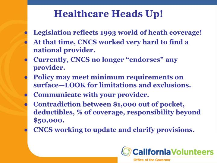 Legislation reflects 1993 world of heath coverage!