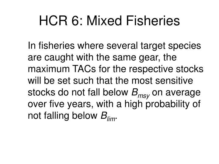 HCR 6: Mixed Fisheries