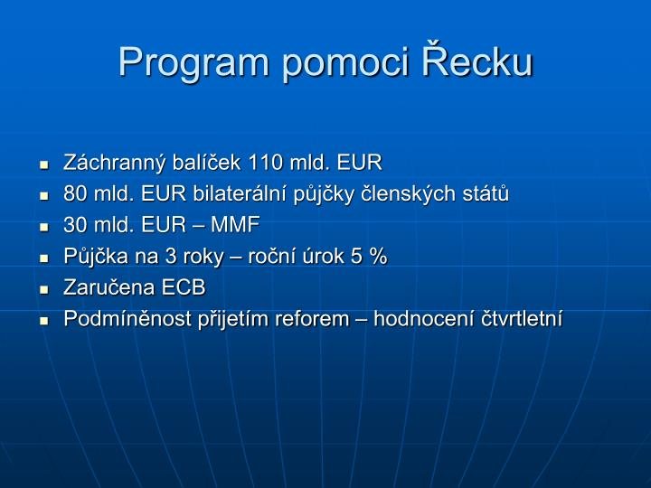 Program pomoci Řecku