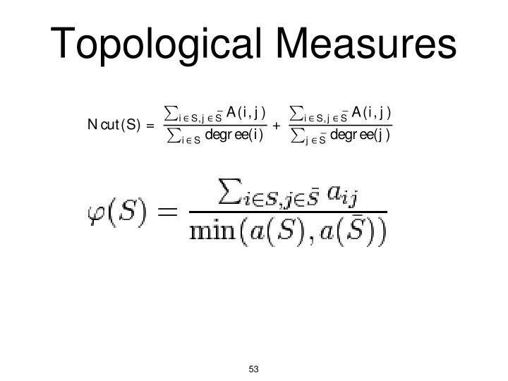 Topological Measures