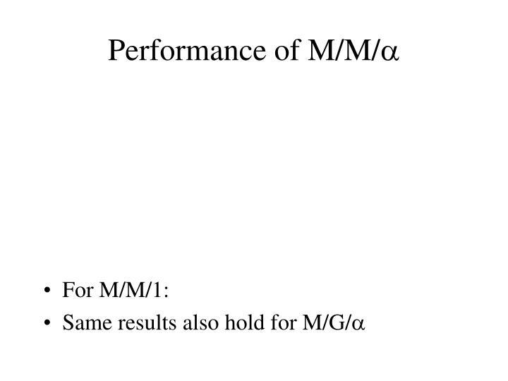 Performance of M/M/