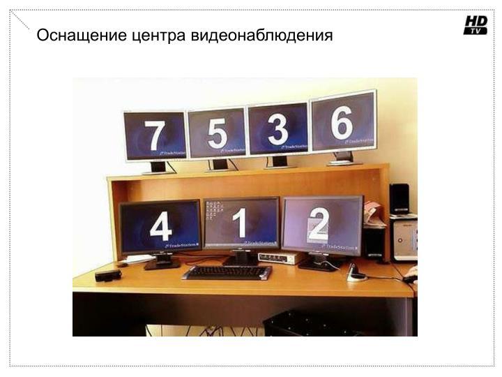 Оснащение центра видеонаблюдения