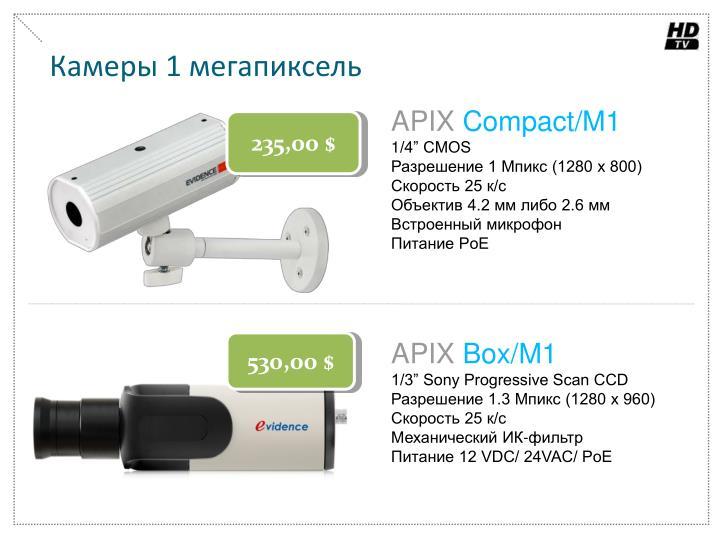 Камеры 1 мегапиксель