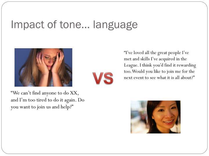 Impact of tone… language