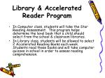 library accelerated reader program