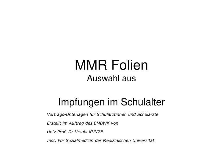 MMR Folien