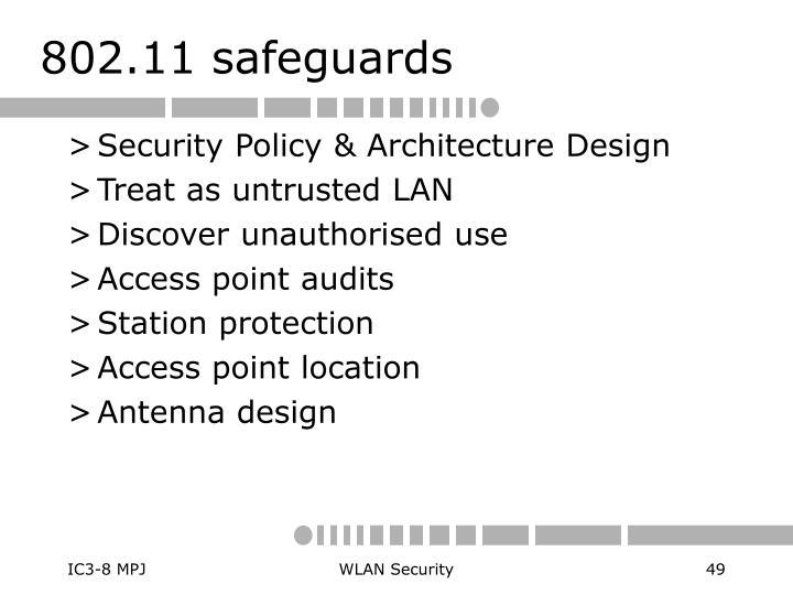 802.11 safeguards