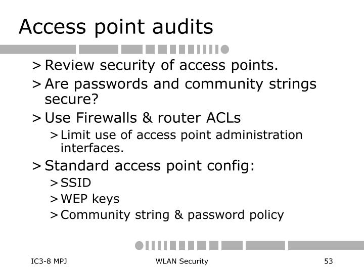 Access point audits