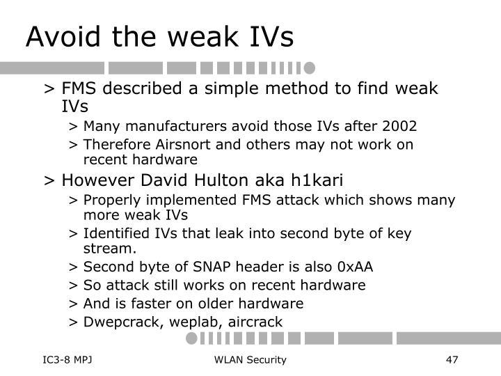 Avoid the weak IVs