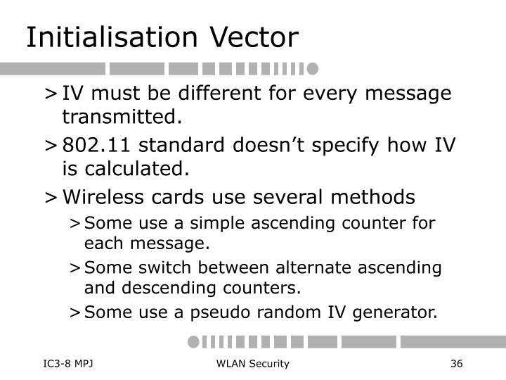 Initialisation Vector