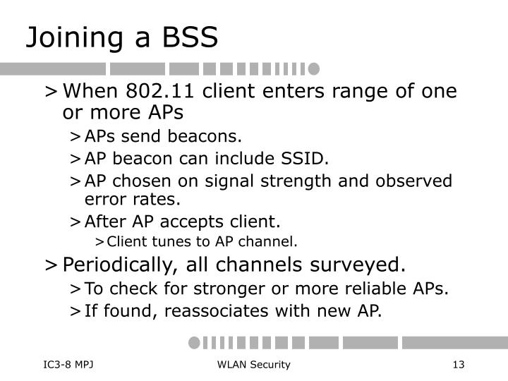 Joining a BSS