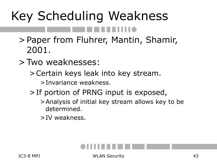 Key Scheduling Weakness