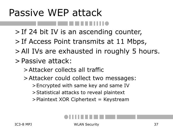 Passive WEP attack