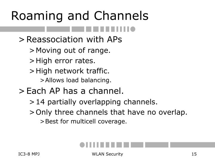 Roaming and Channels