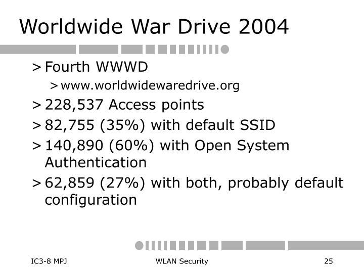 Worldwide War Drive 2004