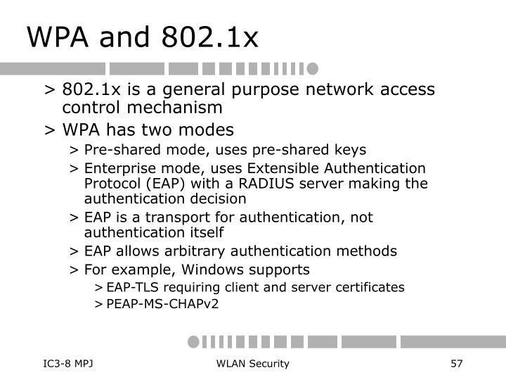 WPA and 802.1x