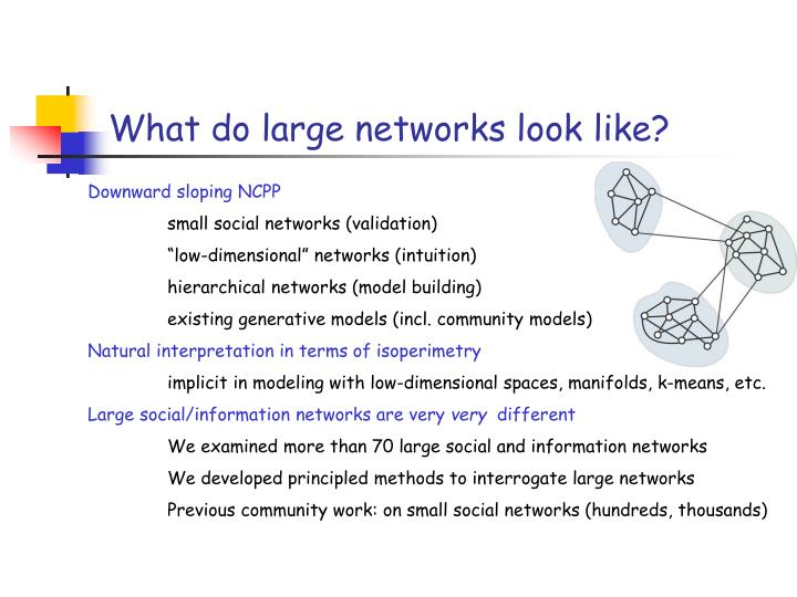 What do large networks look like?