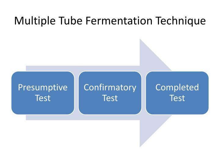 Multiple Tube Fermentation Technique